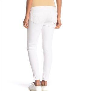 Seven7 Ankle Skinny White Maternity Jeans